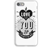 Love Is The Bridge iPhone Case/Skin