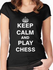 Keep Calm and Play Chess Women's Fitted Scoop T-Shirt