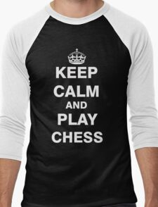 Keep Calm and Play Chess Men's Baseball ¾ T-Shirt