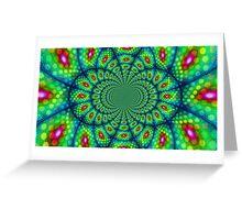Peacock Kaleidoscope  Greeting Card