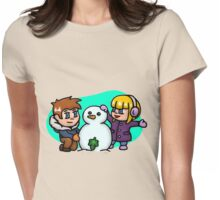 Snow-nudist Womens Fitted T-Shirt