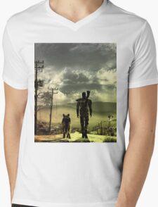 Desert Mens V-Neck T-Shirt
