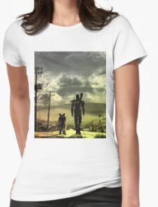 Desert Womens Fitted T-Shirt