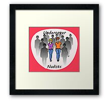 Undercover Nudists (Couple) Framed Print