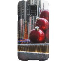 A Christmas Card from New York City – Radio City Music Hall and the Giant Red Balls Samsung Galaxy Case/Skin