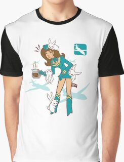 Köpke Chara Collection - Coffee Flight Attendant Graphic T-Shirt