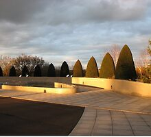 Golden Sunset - Preston Temple Forecourt by kathrynsgallery