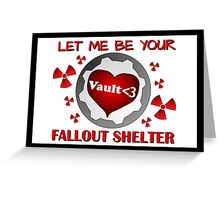 Gamer Valentine - Romantic Nuclear Fallout Shelter Geek Nerd Gamer Greeting Card