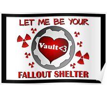 Gamer Valentine - Romantic Nuclear Fallout Shelter Geek Nerd Gamer Poster