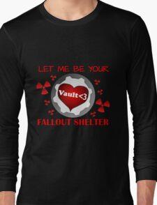 Gamer Valentine - Romantic Nuclear Fallout Shelter Geek Nerd Gamer Long Sleeve T-Shirt