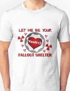 Gamer Valentine - Romantic Nuclear Fallout Shelter Geek Nerd Gamer T-Shirt
