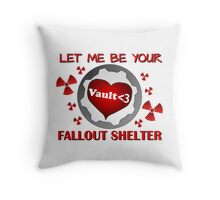 Gamer Valentine - Romantic Nuclear Fallout Shelter Geek Nerd Gamer Throw Pillow