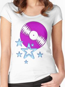 party - sky, star, music, disco, funny Women's Fitted Scoop T-Shirt
