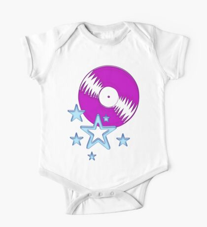 party - sky, star, music, disco, funny One Piece - Short Sleeve