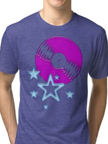 party - sky, star, music, disco, funny Tri-blend T-Shirt
