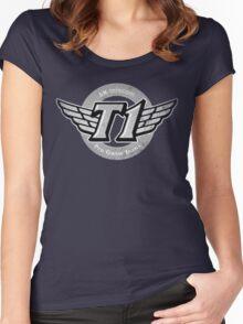 SKT T1 Vintage Logo (best quality ever) Women's Fitted Scoop T-Shirt