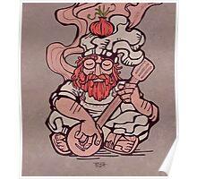 Hippie chef illustration Poster