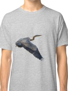 Great blue heron in fly Classic T-Shirt