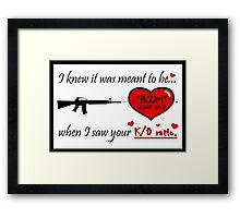 "Gamer Valentine - ""Meant to Be"" Geek Funny Nerd Headshot Framed Print"