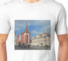 Marienkapelle and Falkenhausen Wurzburg, Germany Unisex T-Shirt