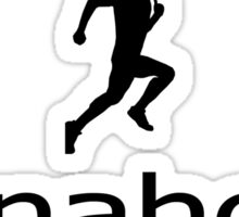 Runaholic - Addicted to Running Training T-Shirt Sticker
