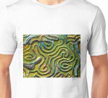 Abstract Photograph From Print Block 1 - Original Colour Unisex T-Shirt