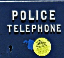 Police Telephone  Sticker