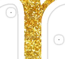 Gold Glitter M  Sticker