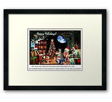 Merry Sci Fi Christmas! Framed Print