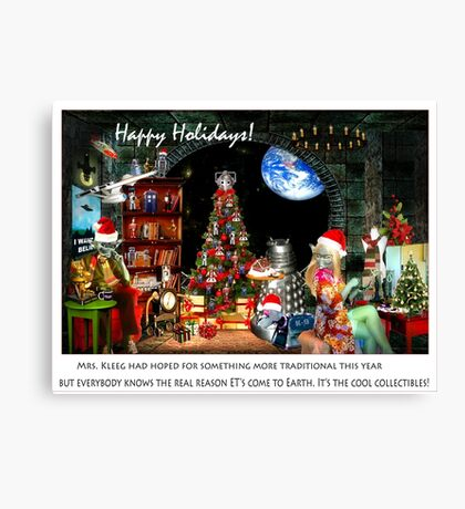 Merry Sci Fi Christmas! Canvas Print