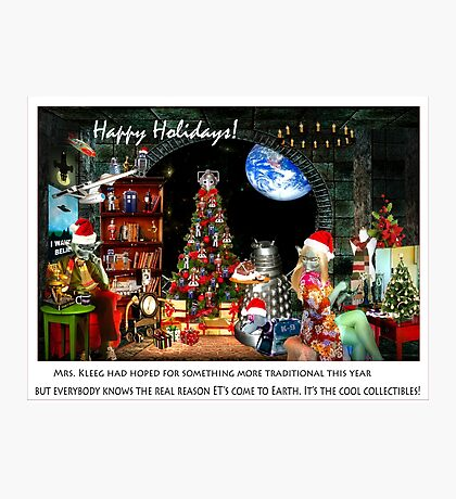 Merry Sci Fi Christmas! Photographic Print