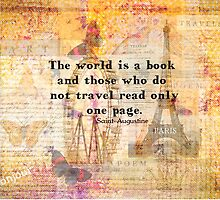 St. Augustine travels quote the world is a book and those who do not travel by goldenslipper