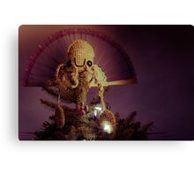 Squid Sun God Canvas Print