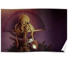 Squid Sun God Poster