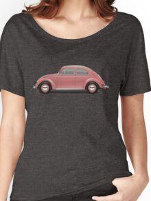 1956 Volkswagen Beetle Sedan - Coral Red Women's Relaxed Fit T-Shirt