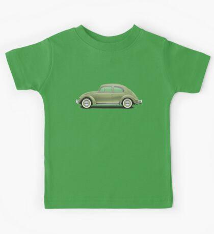 1957 Volkswagen Beetle Sedan - Diamond Green Kids Tee