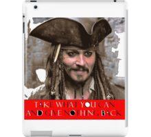 Jack Sparrow iPad Case/Skin