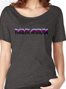 MAIDEN AMERICA - Iron Maiden Logo Parody Women's Relaxed Fit T-Shirt