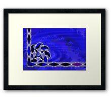 Blue As the Sea Framed Print
