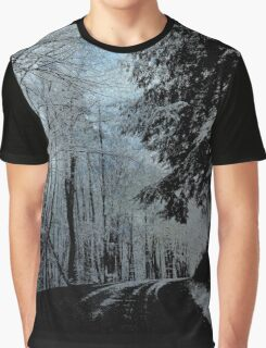 Snowy ride in December Graphic T-Shirt