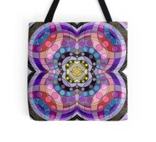 4-Sided Abstract Circles and Arches Pattern Tote Bag