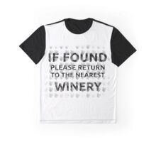 Return To The Nearest Winery Graphic T-Shirt