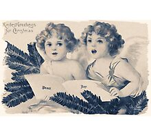 Old Fashioned Christmas Greetings Photographic Print