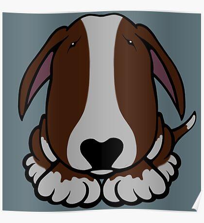 Dobby Ears Bull Terrier Brown  Poster