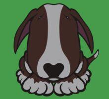 Dobby Ears Bull Terrier Brown  Kids Tee