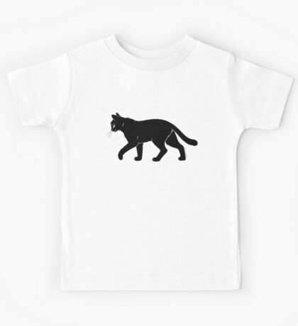 Black Cat Meow Kids Tee