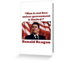 PRES40 MAN IS NOT FREE Greeting Card