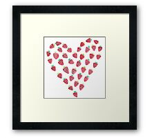 strawberry love Framed Print