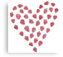 strawberry love Canvas Print