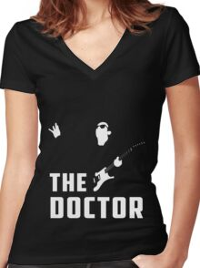 Doctor Who - The Doctor Women's Fitted V-Neck T-Shirt